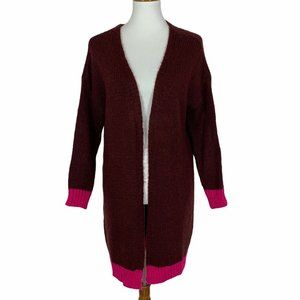 Niccolai Cardigan Sweater Tunic S Fuzzy Open Front